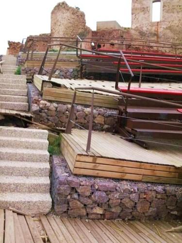 Papilla de auditorio en el castillo de los Vélez... Mazarrón