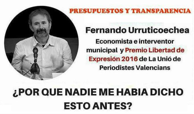 """FERNANDO URRUTICOECHEA """"PRESUPUESTOS Y TRANSPARENCIA"""""""