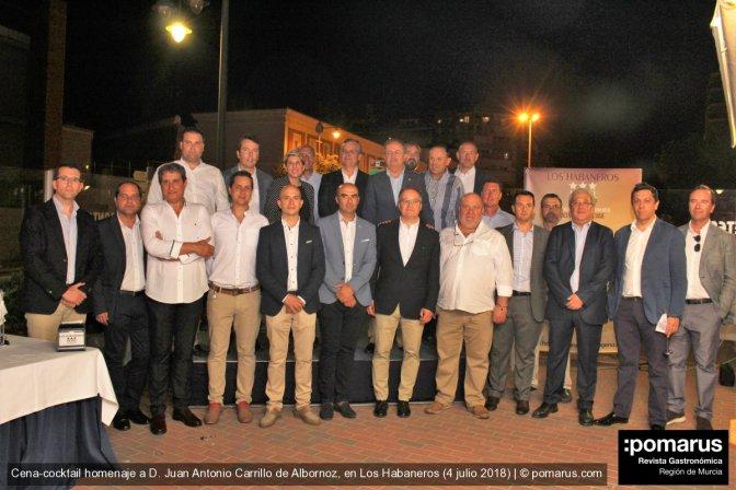 Cena Homenaje a Juan Antonio Carrillo de Albornoz de las Instituciones de Cartagena