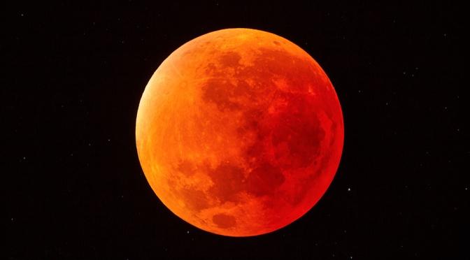 21 de Enero 2019, 06:00 Horas, Eclipse: «Superluna de Sangre de Lobo»