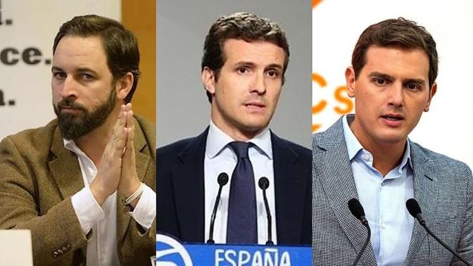 PP, Ciudadanos y Vox llaman a los españoles a salir a la calle contra Sánchez