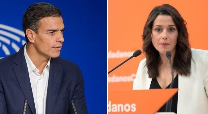 """""""Inés Arrimadas, la España que llega. Pedro Sánchez, la España de Guerra"""""""