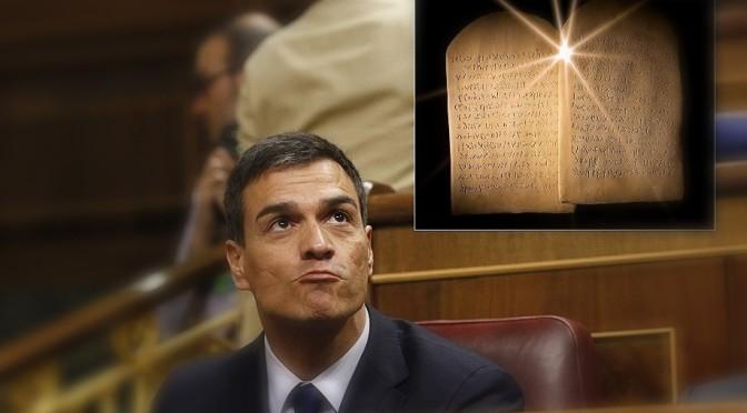 """""""Jehová entrega los 10 Mandamientos, Versión Española, a Moisés Sánchez"""""""