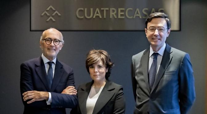 La Ex vicepresidente del Gobierno Soraya Sáez cobrará 600 Mil Euros Anuales de un Bufete