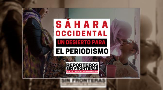 """Apoyo a """"Reporteros Sin Fronteras"""" ante la Persecución a la Prensa en el Sahara"""