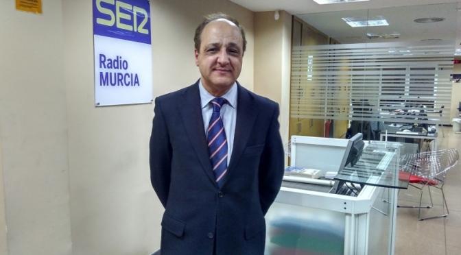 """Diego de Ramón: """"El presidente de Murcia ha endeudado la Región en mil millones de euros más en dos años"""""""