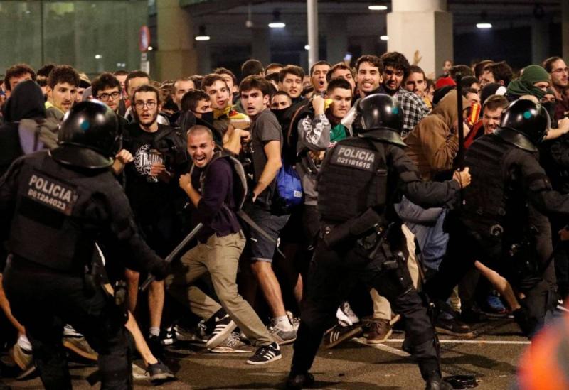 Fuego y furia en Cataluña
