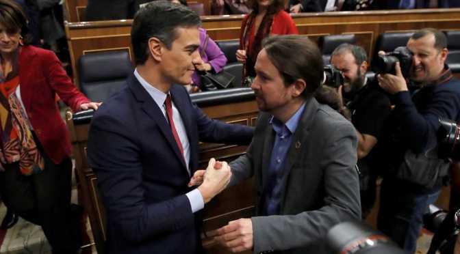 Pedro Sánchez elegido presidente por apenas dos votos