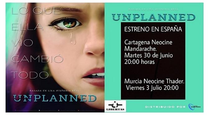"""Brillante estreno ayer en Murcia de la película antiabortista """"Unplanned"""""""