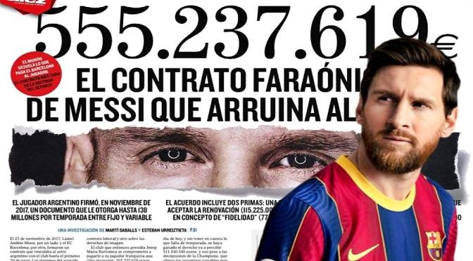 555 MILLONES, INMORAL CONTRATO DE MESSI