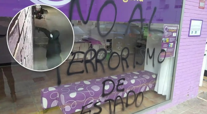 """La Policía no descarta el """"ataque autoinfligido"""" en la sede de Podemos en Cartagena"""