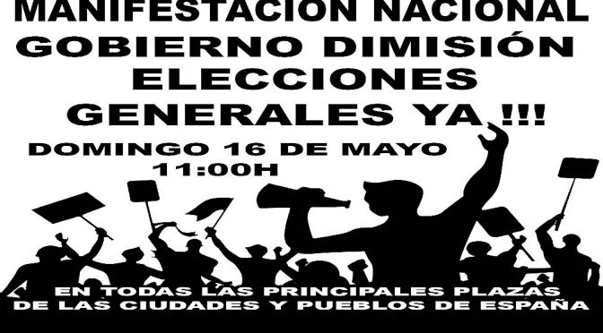 Convocan manifestaciones para pedir la dimisión de Pedro Sánchez en toda España