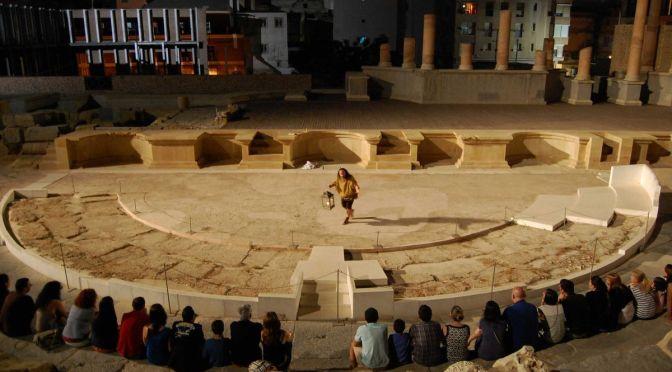 Comienzan las visitas nocturnas al Teatro Romano de Cartagena