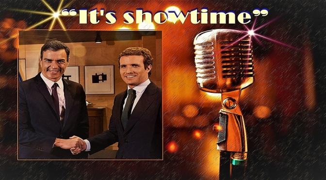 """""""It's showtime"""" (Comienza el espectáculo)"""