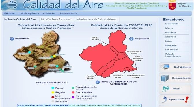 El Valle de Escombreras en nivel 3 de alerta