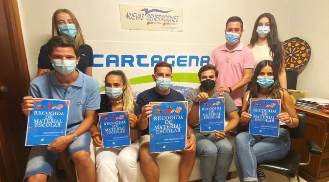 NNGG Cartagena realiza una campaña de Recogida de Material Escolar